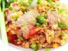 ข้อมูลโภชนาการ ใน ข้าวผัดหมูใส่ไข่ 1 จาน ให้พลังงานทั้งสิ้น เท่ากับ