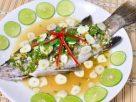 ข้อมูลโภชนาการ ใน ปลากะพงนึ่งมะนาว 1 ชิ้นกลาง ให้พลังงานทั้งสิ้น เท่ากับ