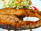 ข้อมูลโภชนาการ ใน ปลาแซลมอนย่าง 1 จาน ให้พลังงานทั้งสิ้น เท่ากับ