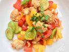 ข้อมูลโภชนาการ ใน ผัดเปรี้ยวหวานไก่ 1 จาน ให้พลังงานทั้งสิ้น เท่ากับ